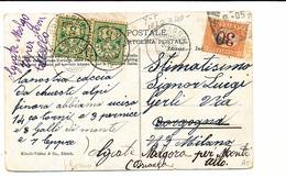 1905 CARTOLINA DALLA SVIZZERA X ITALIA TASSATA IN ARRIVO 0,30 CENTESIMI - Storia Postale