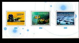 Feuille 3 Timbres ( 2004, 2006, 2008 ** ) - Blokken En Velletjes