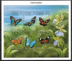 DJIBOUTI 2000 BUTTERFLIES  MNH - Butterflies