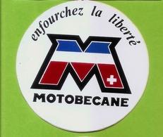 Autocollant MOTOBECANE Enfourchez La Liberté (Ø 9cm) - Autocollants