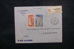 GUYANE - Enveloppe Commerciale De Cayenne Pour Paris En 1938, Affranchissement Plaisant - L 52194 - Guyane Française (1886-1949)