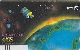 Télécarte Ancienne Japon / NTT 270-011 - Espace / Satellite / 105 U - Space Japan Front Bar Phonecard - Balken TK - Ruimtevaart