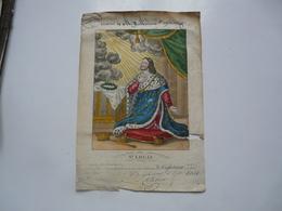 VIEUX PAPIERS - ILLUSTRATION  : Saint LOUIS - Souvenir De Mme VALPINCON Propriétaire Du Château - Devotion Images