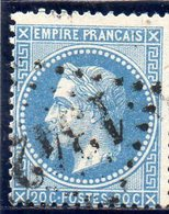 N° 29B Type II Variété De Planchage (F Et R De FRANC Reliés) 947 - 1863-1870 Napoléon III Lauré