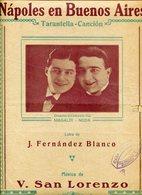 NAPOLES EN BUENOS AIRES TARANTELLA CANCION LETRA DE J FERNANDEZ BLANCO MUSICA DE V SAN LORENZO PARTITURA - NTVG. - Partituras
