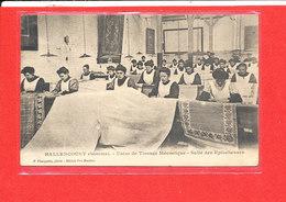 80 HALLENCOURT Cpa Animée Usine De Tissage Salle Des Eplucheuses     Edit Mercher - France