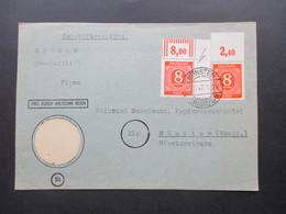Kontrollrat Vorderseite  Nr. 917 A W OR Eckrand Walze Und Farbe 917 B P OR Ndgz Geprüft Hohmann BPP - Zone AAS