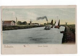 Leeuwarden - Nieuwe Kanaal - Boot Schip Molen - 1906 - Leeuwarden