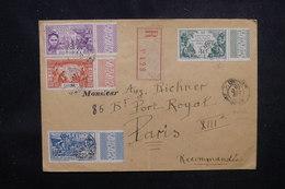 DAHOMEY - Enveloppe En Recommandé Pour Paris En 1931, Affranchissement Plaisant Expo Coloniale  - L 52199 - Dahomey (1899-1944)