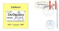 Masonic FDC Maçonnique: Nederland-50 Jr Loge De Geuzen O:. Antwerpen- 2007 (Vrijmetselarij - Freemasonry - Freimaurerei) - Franc-Maçonnerie