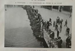 1904 PONTOISE - UN CONCOURS DE PECHE À LA LIGNE - LES CONCURRENTS EN ORDRE DE BATAILLE - Livres, BD, Revues