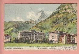 OLD POSTCARD - SWITZERLAND - SCHWEIZ - SUISSE - ZERMATT - HOTEL - VILLA MARGUERITE - VS Valais