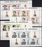 Cuba, 1982, H.R.Kapablanka, Chess, 4 Minisheets - Chess