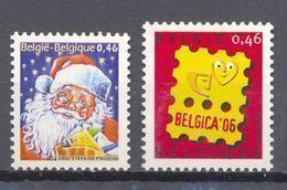 3631/3632 MIJNZEGEL POSTFRIS** 2007 - Belgio