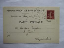 ROYAT   (  STATION  DU  COEUR      )   ADMINISTRATION  DES  EAUX  ET  FORETS              TTB - Postmark Collection (Covers)