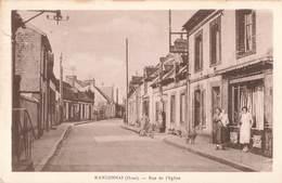 61 Randonnai Rue De L' Eglise Cpa Carte Animée - France