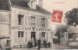 CPA:HÔTEL ET CAFÉ DU GROS RAISIN J.ROY COMMISSIONNAIRE EN VINS TRÉLOUP (02)..ÉCRITE - France