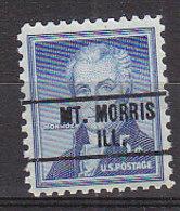 J0545 - ETATS UNIS USA Yv N°590 MT. MORRIS - Vorausentwertungen