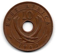 East Africa / KM 26.2 / 10 Cents  1942  / TTB - British Colony