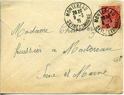 MONTEREAU SEINE ET MARNE 1931 Timbre à Date Sur Timbre Exposition Coloniale 1931 - Postmark Collection (Covers)