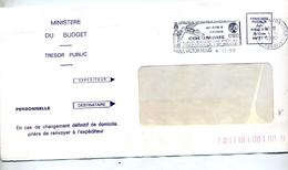 Lettre Franchise Flamme Paris Agence Spatiale Columbus - Marcophilie (Lettres)
