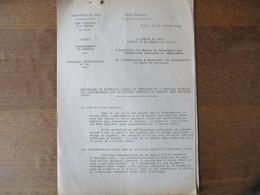 ETAT FRANCAIS LILLE LE 30 OCTOBRE 1942 CIRCULAIRE PREFET DELEGUE DARROUY RATIONNEMENT DU TEXTILE 8 PAGES - Historische Documenten
