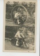 """MOTOS - Belle Carte Photo Enfant Sur Sa Moto """"Souvenir De MARIO CONTERIO , 5 Ans """" - Motos"""