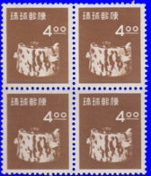 Ryu-Kyu 1954. ~  YT 29** Bloc De 4 - Poterie - Altri - Asia
