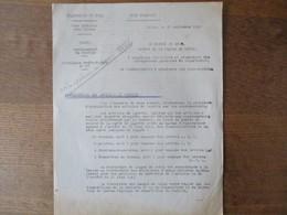 ETAT FRANCAIS LILLE LE 20 SEPTEMBRE 1943 CIRCULAIRE PREFET DELEGUE DARROUY RATIONNEMENT DISTRIBUTION DES ARTICLES DE LAY - Historische Dokumente