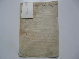 VIEUX PAPIERS - PARCHEMIN : Par Devant M. Bizault - Manuskripte
