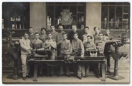 CPA Carte Photo Isère 38 Grenoble Promotion 1908-1909 éléves Devant Une Machine Construite Aux Ateliers école Vaucanson - Grenoble