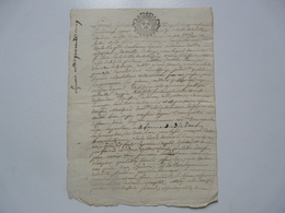 VIEUX PAPIERS - MANUSCRIT : LONGJUMEAU - Manuscritos