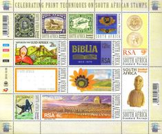 South Africa - 2010 World Post Day Printing Techniques Sheet/Set (**) # SG 1817a - Unused Stamps