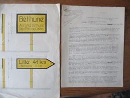 OBERFELDKOMMANDANTUR 670 CHEF DE L'ADMINISTRATION MILITAIRE LE 7.8.1941 A MONSIEUR LE PREFET A LILLE SIGNALISATION DES R - Historische Dokumente