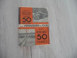 Plaquette Horaires Autobus Car Lyon Vers Région Années 20/30 39 Pages Pub Dont Citroën - Europe