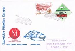 35652. Carta CIUDAD REAL 1992. Ferrocarril, Tren Madrid A Ciudad Real. Marca RENFE - 1931-Hoy: 2ª República - ... Juan Carlos I