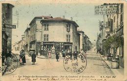 ISERE  LE PEAGE DE ROUSSILLON Rue De Condrieu Et Grande Rue - Autres Communes
