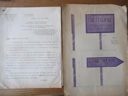 ETAT FRANCAIS LILLE LE 29 JUIN 1944 LE PREFET F.CARLES NOTE ET OBERFELDKOMMANDANTUR 670 A TIEFB DU 13 JUIN 1944 - Historische Dokumente