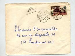 Lettre Cachet Brazaville  Train Surchargé Inauguration - République Du Congo (1960-64)