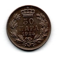 Yougoslavie / KM 4 / 50 Para 1925  / TTB+ - Yugoslavia