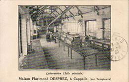 D59   Maison Florimond DESPREZ à CAPPELLE ( Par Templeuve )  ......... Laboratoire ... Timbre Perforé F.D - Autres Communes