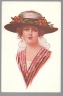 Cpa...illustrateur ...Fischer .Harrison...art Nouveau...art Déco...mode...femme Avec Chapeau... - 1900-1949
