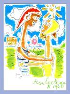 Carte Moderne - Secours Populaire Français - Illustrateur (Jean Cocteau) - 1961. Au Profit De L'enfance Défavorisée - Cocteau