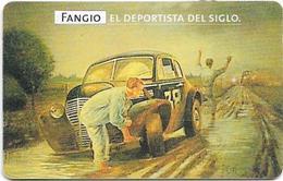 Argentina - Telefónica - Juan Manuel Fangio Cars 2/8, 07.1999 - 50.000ex, Used - Argentina