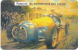 Argentina - Telefónica - Juan Manuel Fangio Cars 4/8, 07.1999 - 50.000ex, Used - Argentina