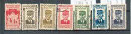 INDO 588 - YT 242 / 243 à 248 ° Obli - Indochine (1889-1945)