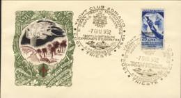 1952-Trieste A Lettera Fdc Affrancata L.25 Mostra D'oltremare Napoli Annullo Figurato Gran Premio Moto Nautico Golfo Di - 7. Trieste
