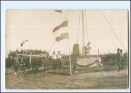 U9606/ Segelschulschiff Segelschiff Niobe Ehrenmal Auf Fehmarn Foto AK 1932 - Voiliers