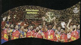 2018-ED. 5215 H.B. - Selección Española De Balonmano. Campeones De Europa -USADO- - 1931-Hoy: 2ª República - ... Juan Carlos I