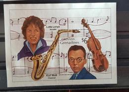 GRENADA GRENADINES Musique, Music, Musica, Bloc émis En 1996. Violon, Saxophone, Kurt WEILL. Neuf Sans Gomme - Musik